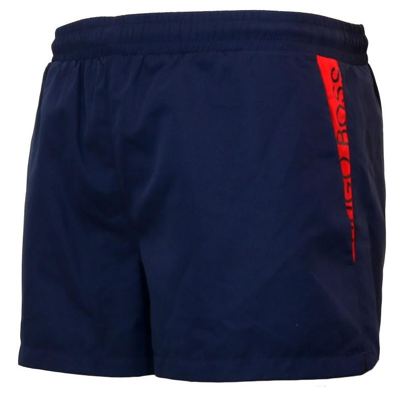 Boss Beachwear Mooneye Swim Shorts Navy/Red - Maison De Fashion