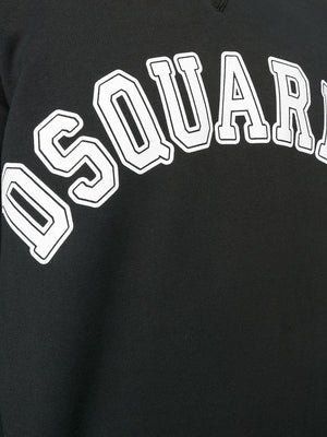 DSQUARED2 Cracked Logo Sweatshirt Black - Maison De Fashion