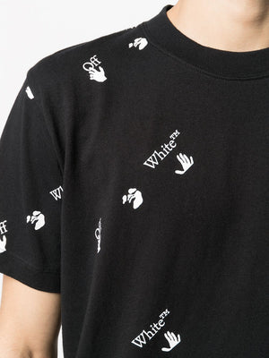 OFF-WHITE All Over Logo Slim T-Shirt Black