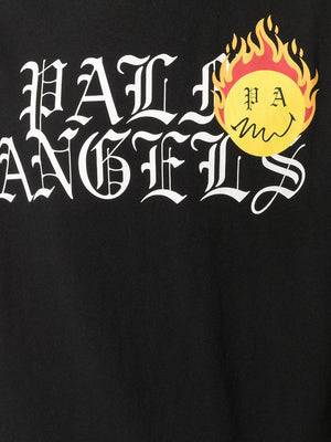 PALM ANGELS Burning Head Logo T-Shirt Black
