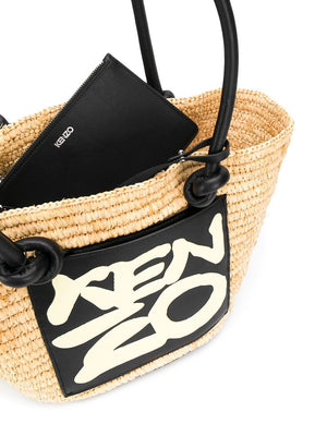 KENZO logo bag brown - Maison De Fashion