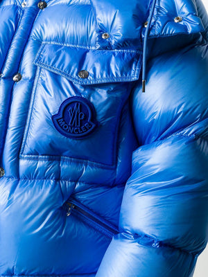 MONCLER Lamentin Hooded Padded Jacket Blue