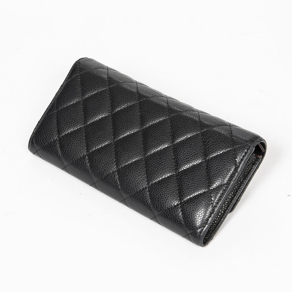 Chanel Pre-Loved Classic Flap Wallet Black