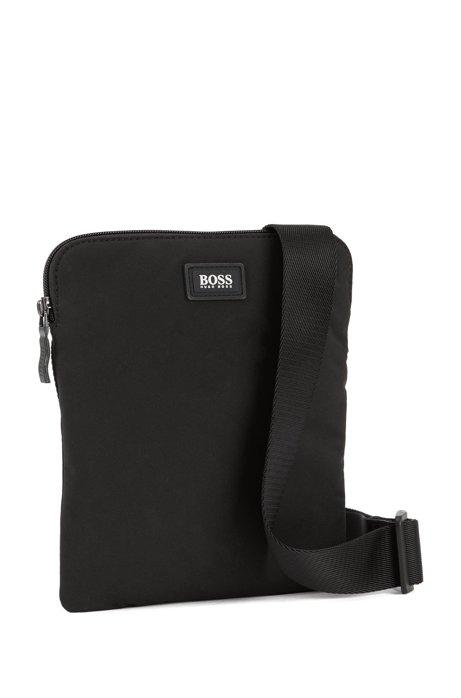 Hugo Boss Single-Zip Envelope Bag In Black | Maison De Fashion