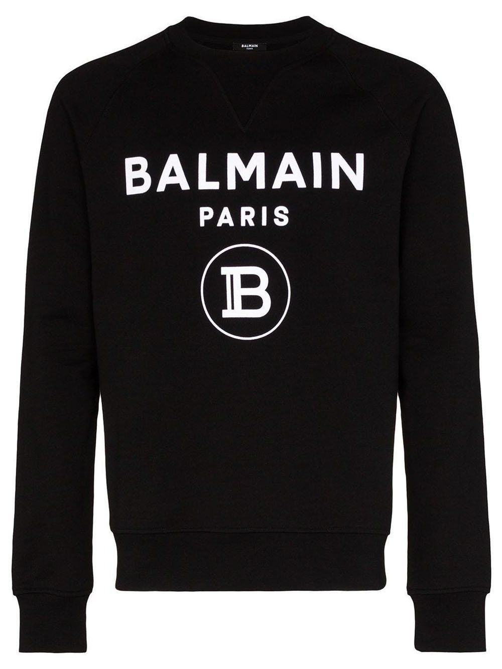 BALMAIN Logo Print Sweatshirt Black/White - Maison De Fashion