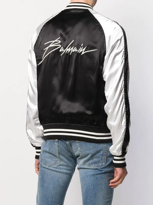 Balmain Bomber Jacket black/white - Maison De Fashion