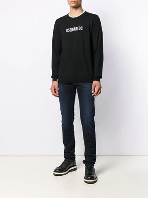 Dsquared2 Logo Intarsia Jumper - Maison De Fashion
