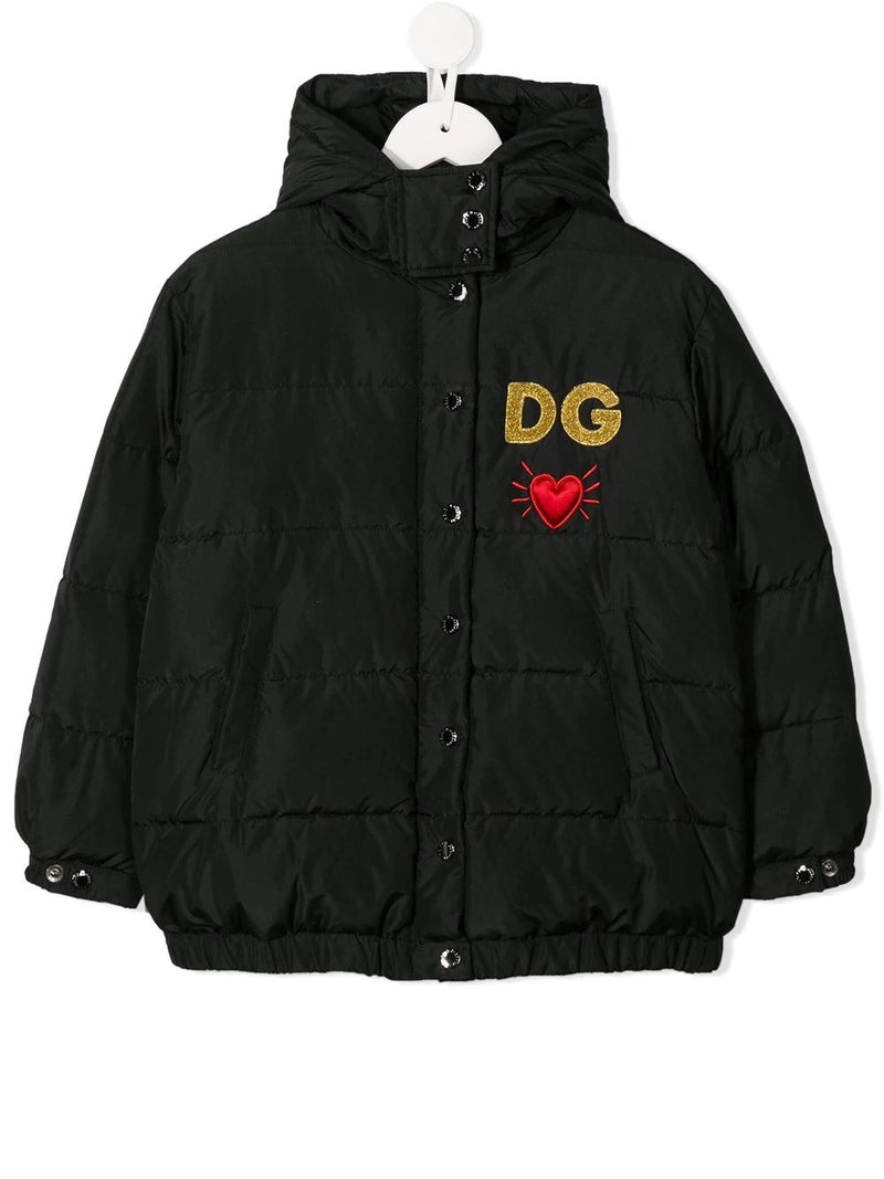 DOLCE & GABBANA KIDS DG heart hooded jacket - Maison De Fashion