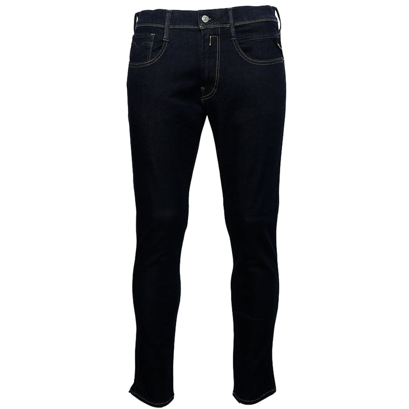 Replay Men's Anbass Hyperflex Slim Fit Jeans In Dark Blue | Maison De Fashion