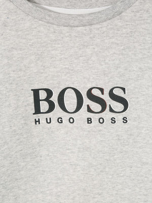 BOSS KIDS logo print sweatshirt - Maison De Fashion