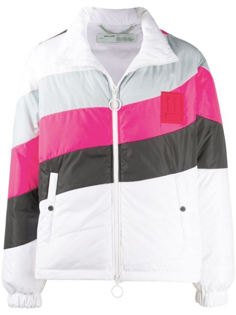 Off-White Striped Puffer - Maison De Fashion