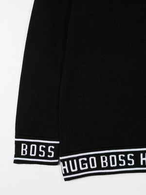BOSS KIDS logo trim sweater - Maison De Fashion
