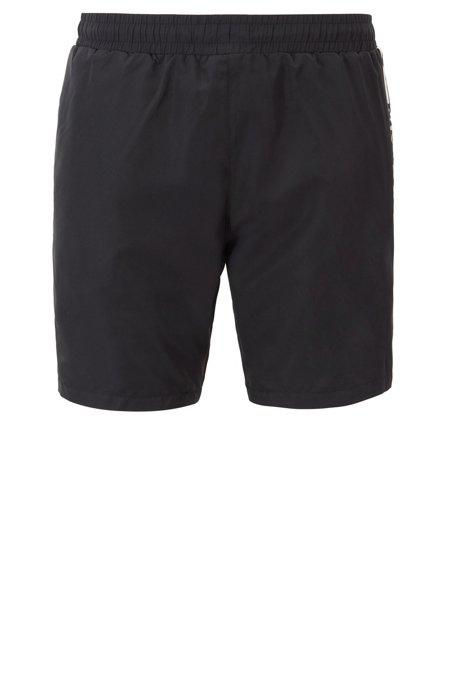 Boss Beachwear Swim Shorts Black/White | MAISONDEFASHION.COM