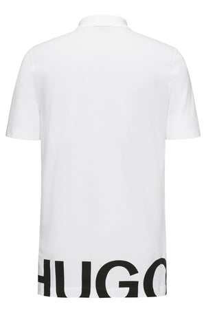 Hugo Darelli Graphic Print Polo Shirt Regular Fit In White | Hugo
