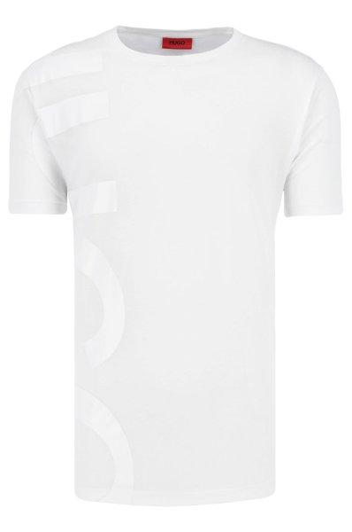 HUGO Oversized-Fit T-Shirt In Cotton With Large-Scale Logo White | Hugo