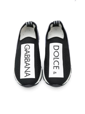 Dolce & Gabbana Slip On Sneakers Black - Maison De Fashion