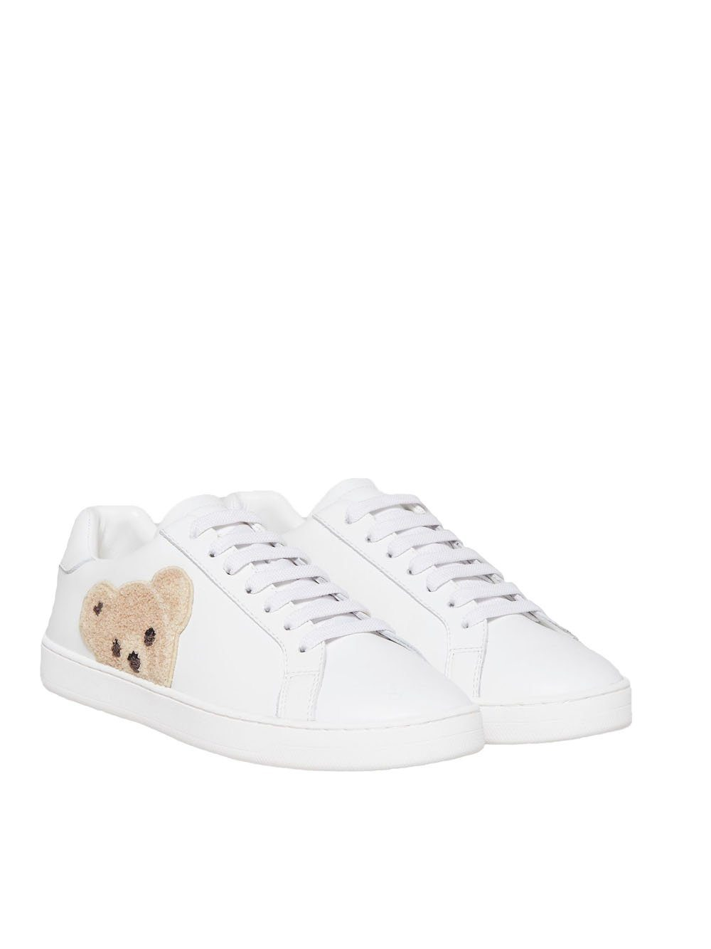 PALM ANGELS Teddy Bear Tennis Sneakers White