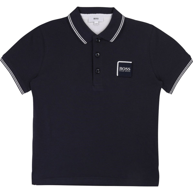 Boss Kids Logo Patch Polo Shirt - Maison De Fashion