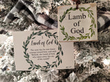 Names of God Advent Calendar - Set of 25 Scripture Cards (free shipping)
