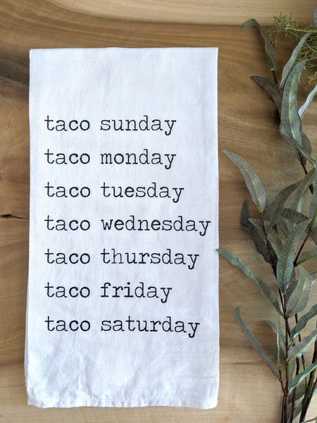 Taco Day Tea Towel