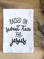 Sweet Tea and Jesus Dish Towel