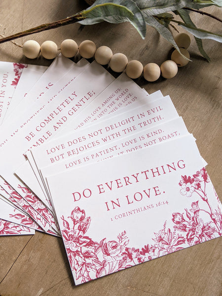 Love Scripture Cards Set *Free Shipping*