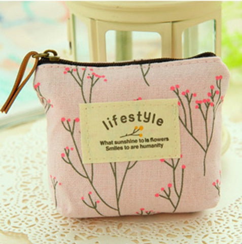 Flowers Design Coin Purse