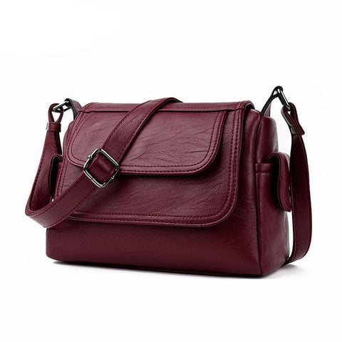 Single Pu Leather Crossbody Bags