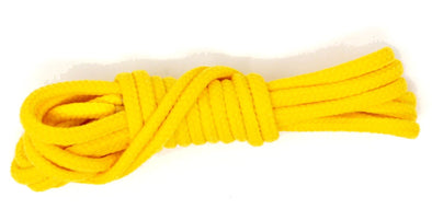 Yellow 36 inch dress shoelaces, colored laces