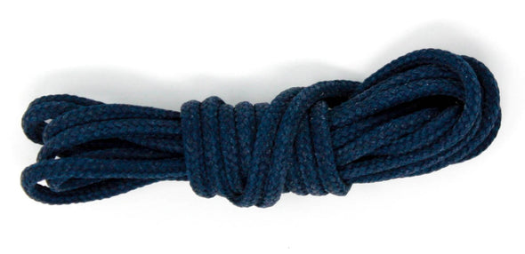 Navy Blue 36 inch dress shoelaces, Colored laces