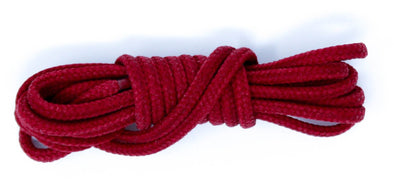 Red 36 inch dress shoelaces, colored laces