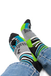 Striped Mid-Calf Dress Socks, Crazy Socks