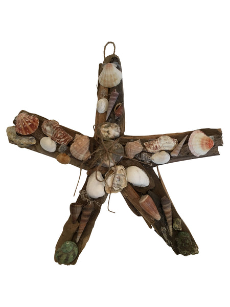 Wall Decor Seashell Wooden Star Fish