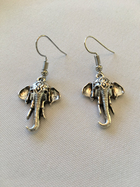 Good Luck Elephant Earrings Pierced