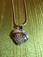 Nurse Rhinestone Charms on Silver Colored Snake Chain Necklace Adjustable