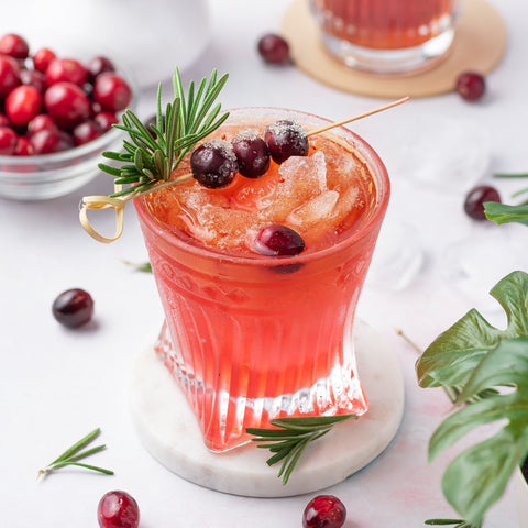 Tejava Black Tea with Cranberry Syrup mocktail and cocktail