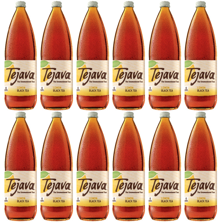 Tejava Lemon Tea 1L Glass Bottle 12 Pack