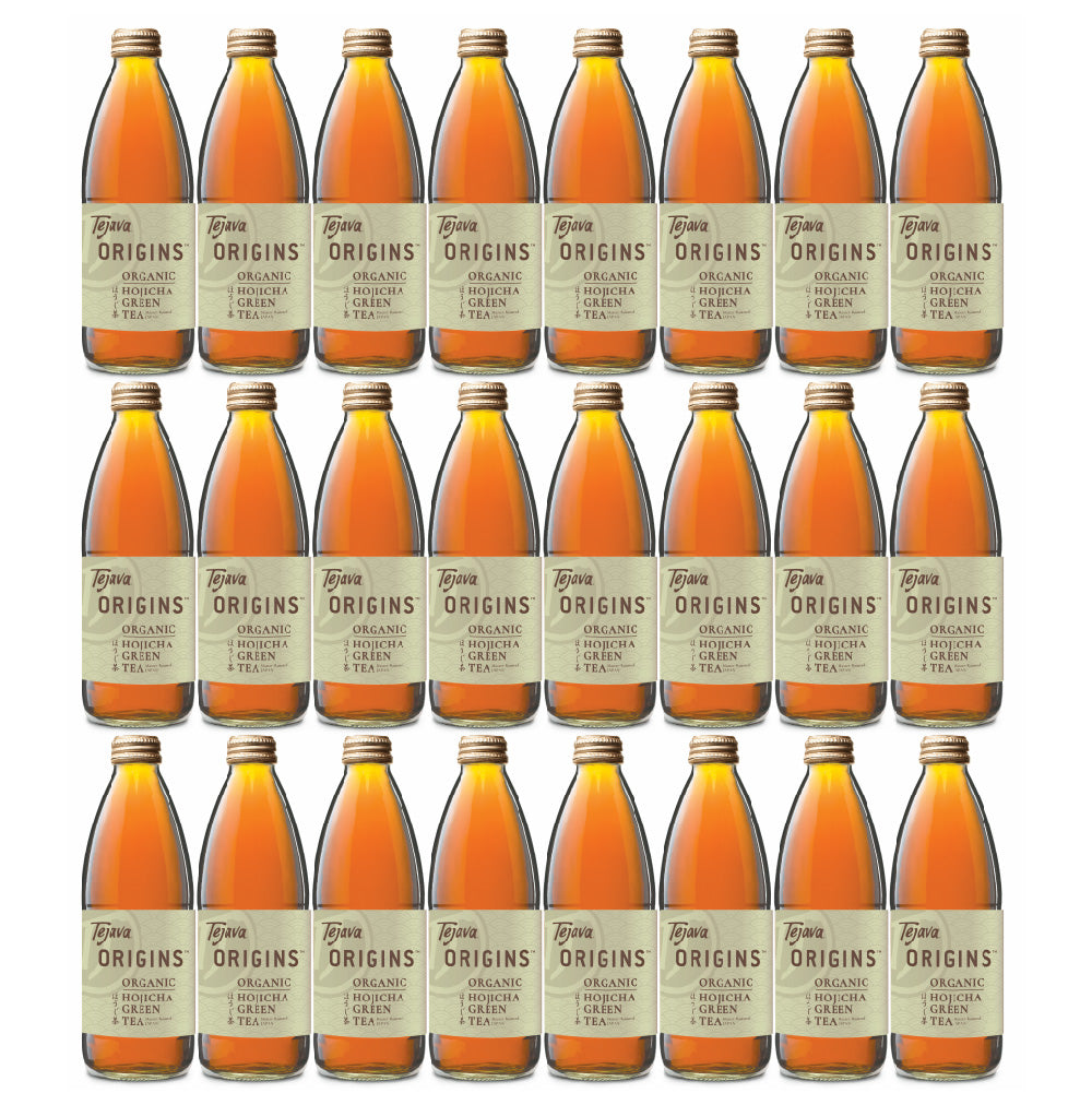 Tejava Origins™ Hojicha Green Tea 24 pack of 12 oz Glass Bottles