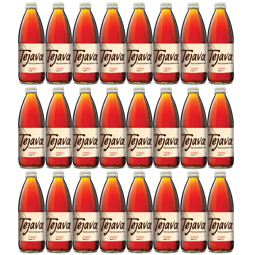 Tejava Original Black Tea 24 pack of 12 oz Glass Bottles