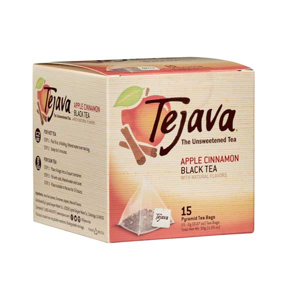 Tejava® Apple Cinnamon Pyramid Tea Bags | 4 Boxes (60 ct) and 8 Boxes (120 ct)