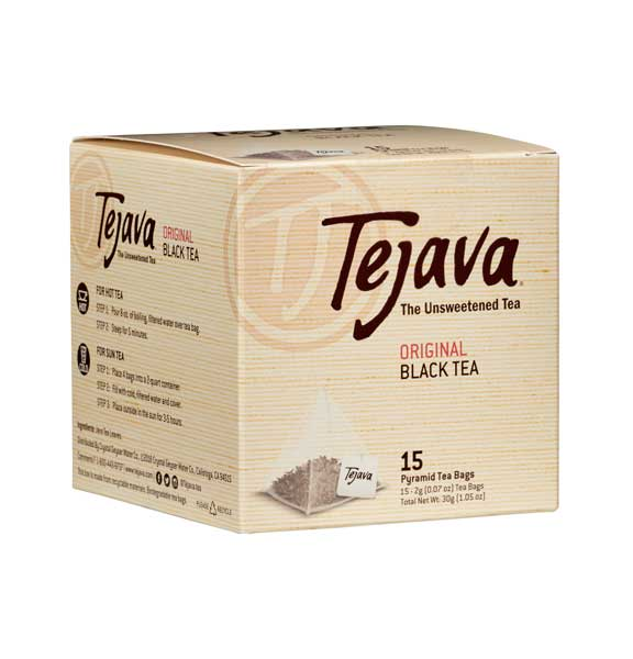 Tejava Black Tea Bags Box of 15 Pyramid bags