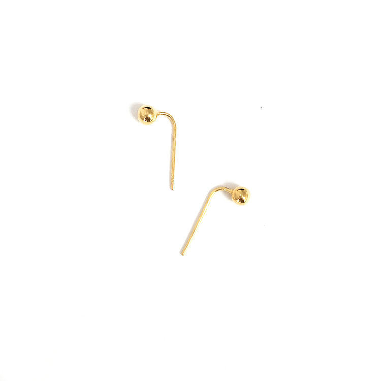 Baller Stud Hook Earrings