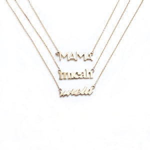 MIE Custom Nameplate Necklace