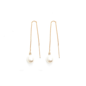 Pearl Drop Chain Threaders