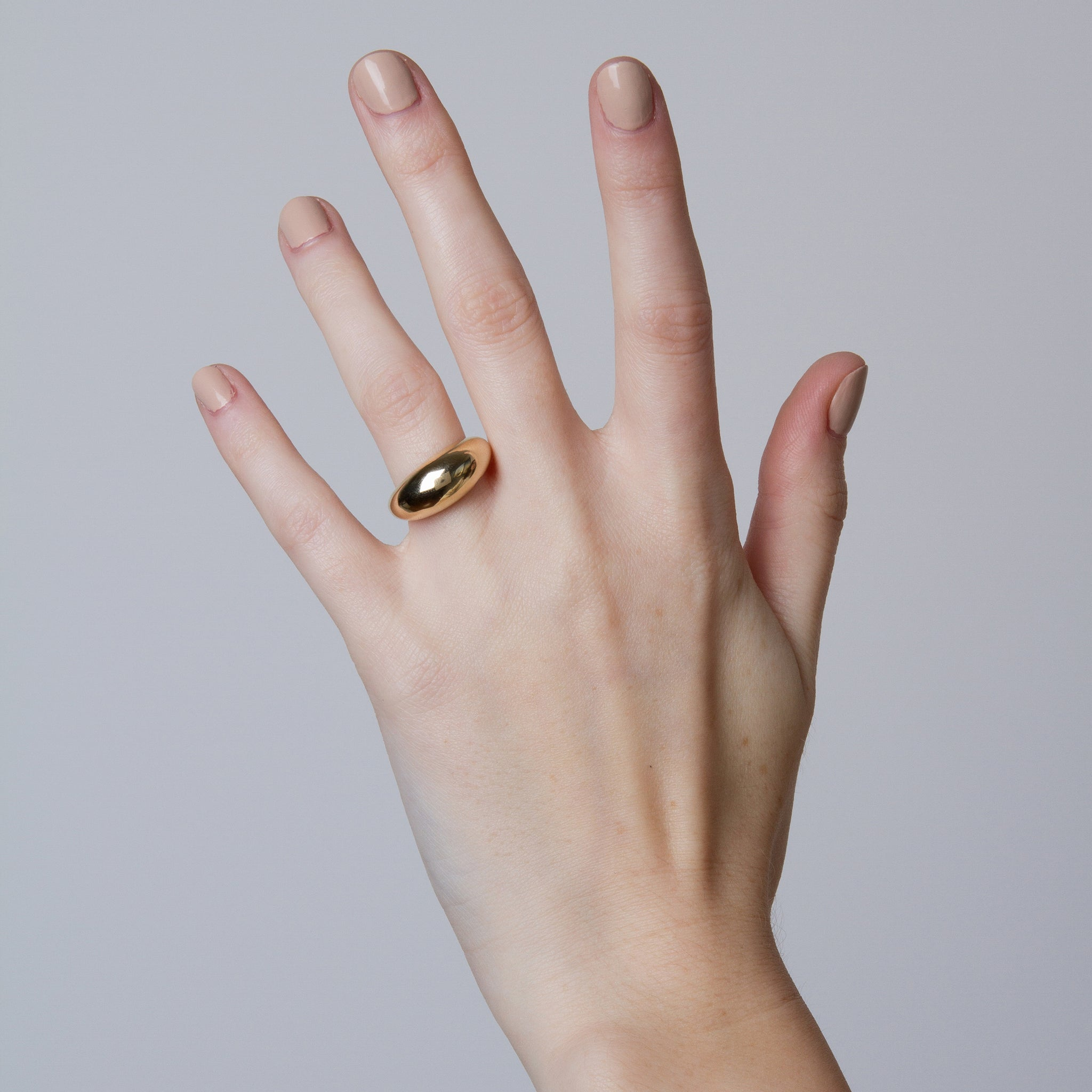 Arc Dome Ring with Diamond