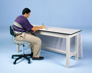 Hausmann 4082 Treatment Table - Work Desk - Alternative Source Medical