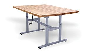 Hausmann 4325 Deluxe Crank Butcher Block Work Table - Alternative Source Medical
