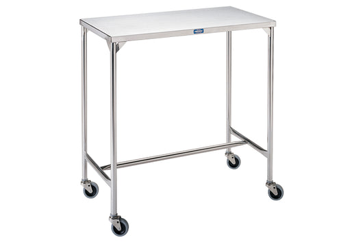 Pedigo Mid-Sized Stainless Steel Instrument Table with H Brace - Alternative Source Medical
