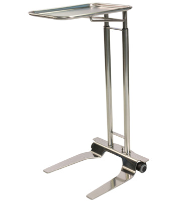 "Pedigo SS Foot Operated Mayo Stand With 12 5/8"" x 19 1/8"" Tray - Alternative Source Medical"