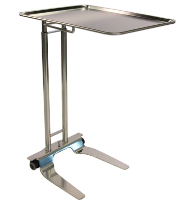 "Pedigo SS Foot-Operated Mayo Stand With 20"" x 25"" Tray - Alternative Source Medical"
